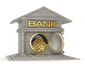 Stockade de l'or à la banque