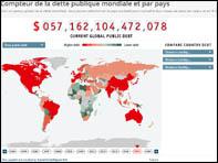La dette publique mondiale selon le site Science-Economique.com