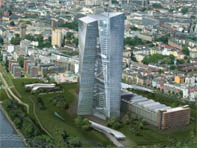 La SkyTower, le siége dela BCE à Francfort-sur-le-Main