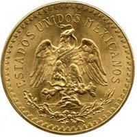 Motif sur le revers d'une pièce 50 Pesos Mexicaine Centenario